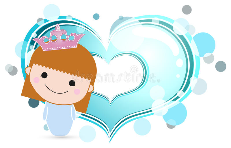 A Girl With Blue Heart Royalty Free Stock Photography