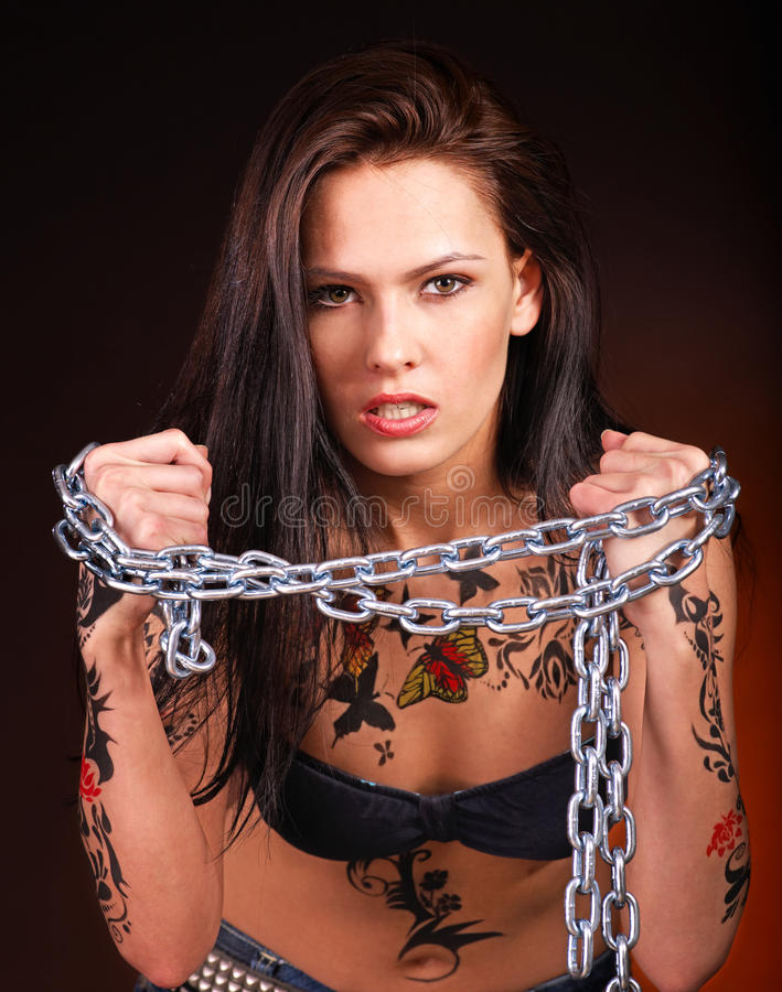 Download Girl With Body Art. Royalty Free Stock Images - Image: 24459499