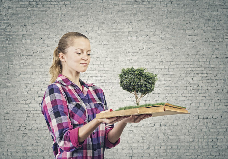 Download Girl With Book Stock Photo - Image: 41890762