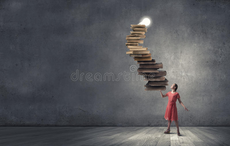 Girl with book royalty free stock photography