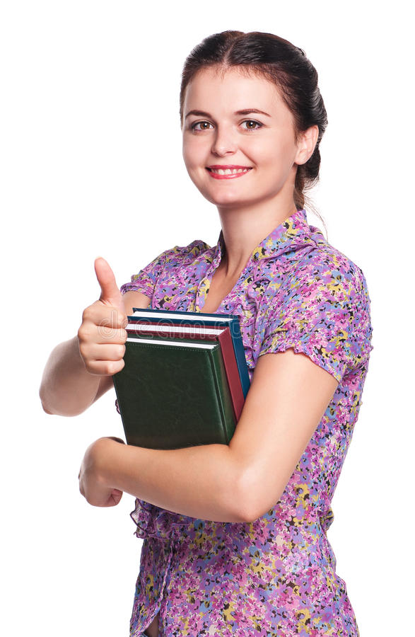 Download Girl with books stock photo. Image of isolated, closeup - 26841470
