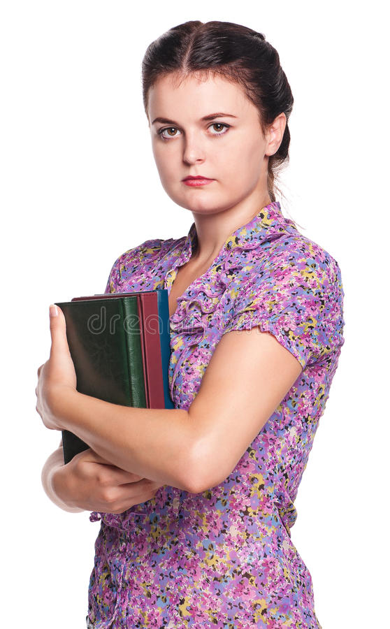 Download Girl with books stock image. Image of lovely, emotion - 27421497