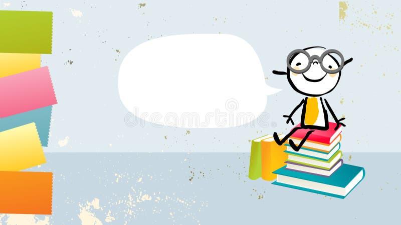 Girl books vector royalty free illustration