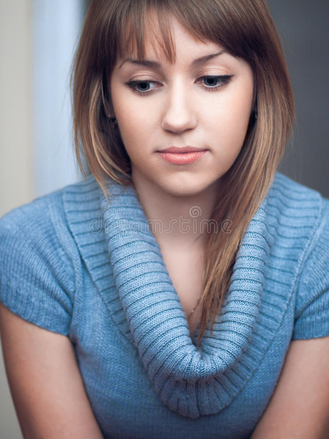 Download The girl is bored stock photo. Image of adolescence, praying - 29076378