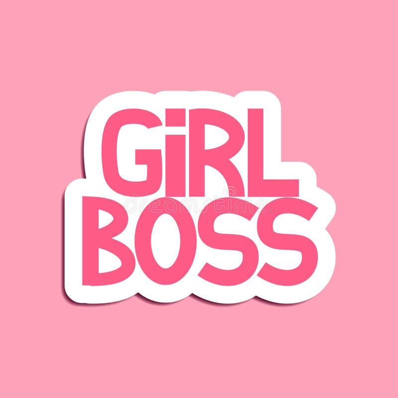 Girl Boss stock illustration