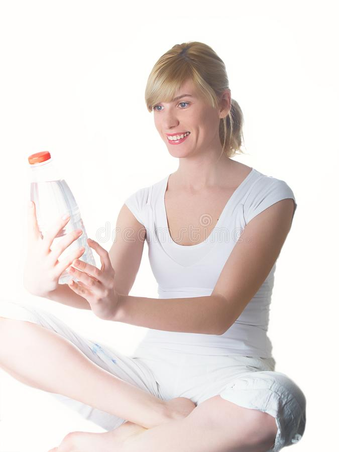 Download The girl with bottle stock photo. Image of attractive - 8935224