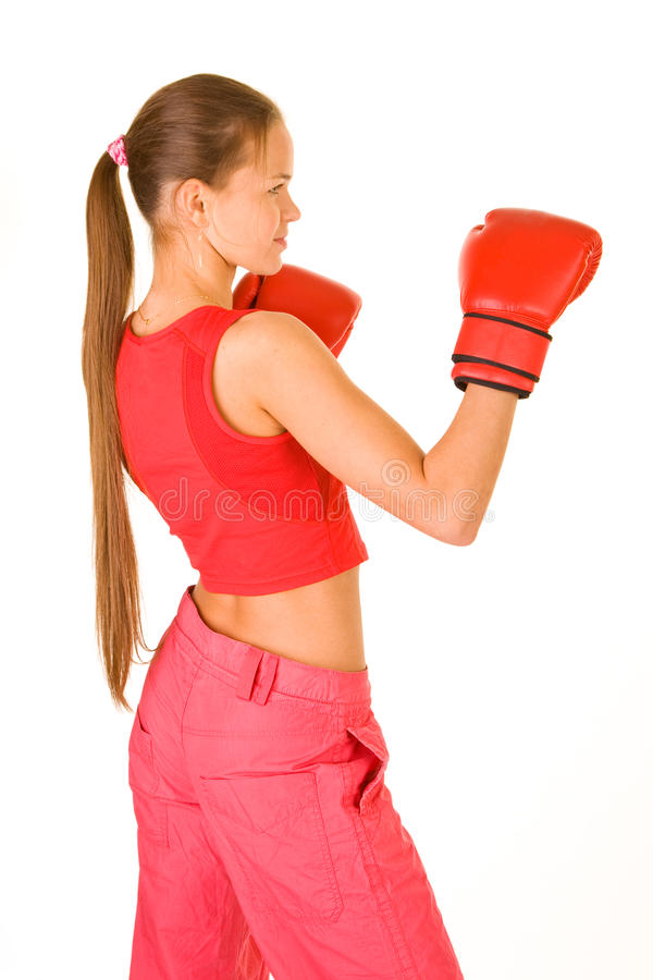Free Girl Boxer Royalty Free Stock Photography - 12107687
