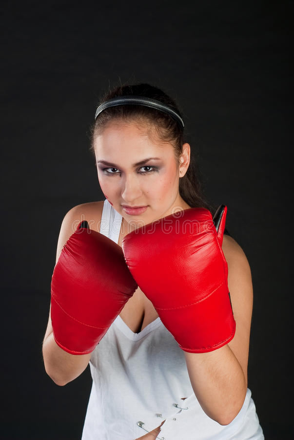 Download Girl boxer stock photo. Image of boxer, caucasian, person - 13327438