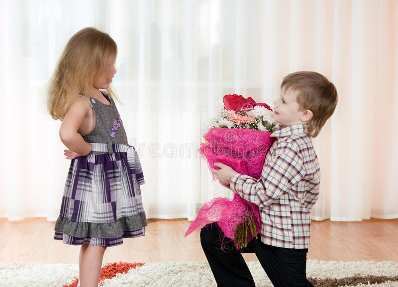 Download Girl and boy stock photo. Image of girl, adorable, looking - 19514448
