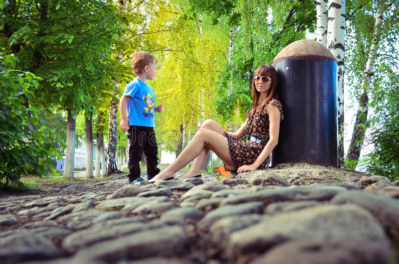 Girl and boy royalty free stock photos