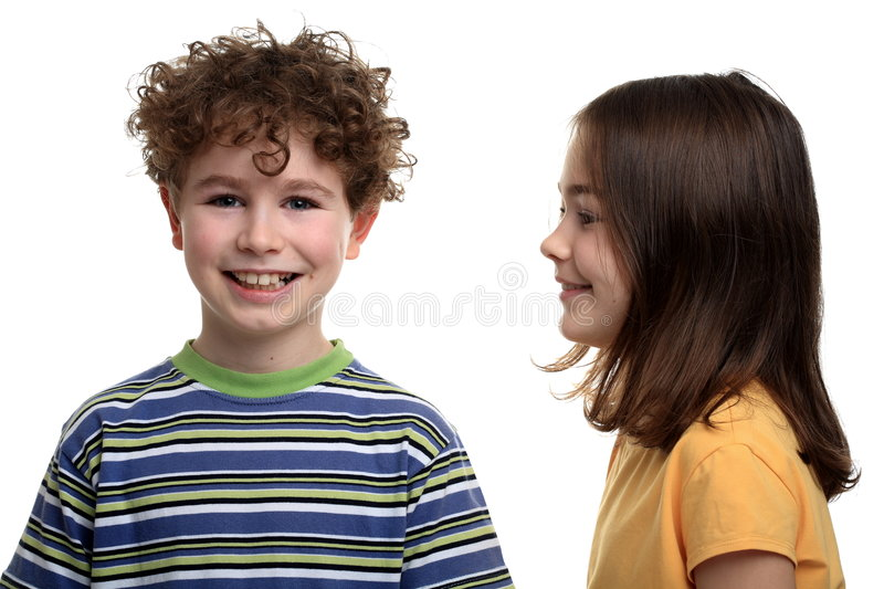 Download Girl and boy stock photo. Image of handsome, friendship - 4131778