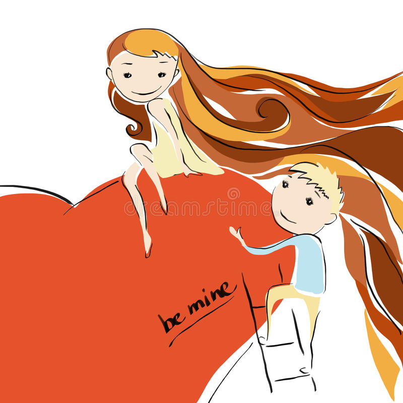 Download Girl And Boy In Love. Proposal. Stock Illustration - Illustration: 33137394