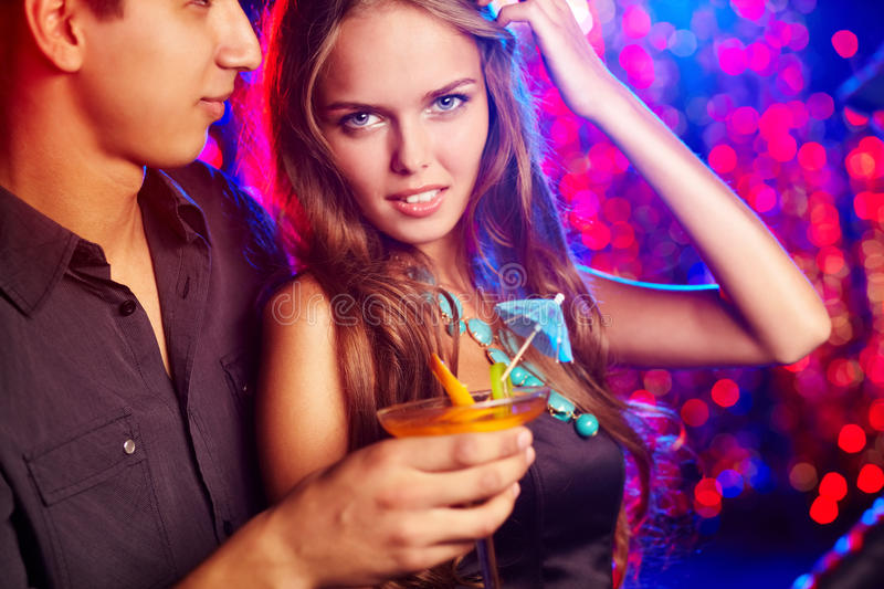 Download Girl with boyfriend stock photo. Image of alcohol, beautiful - 23974108