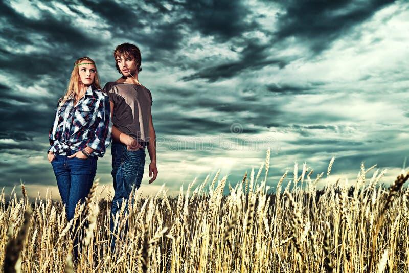 Girl and boyfriend royalty free stock photos