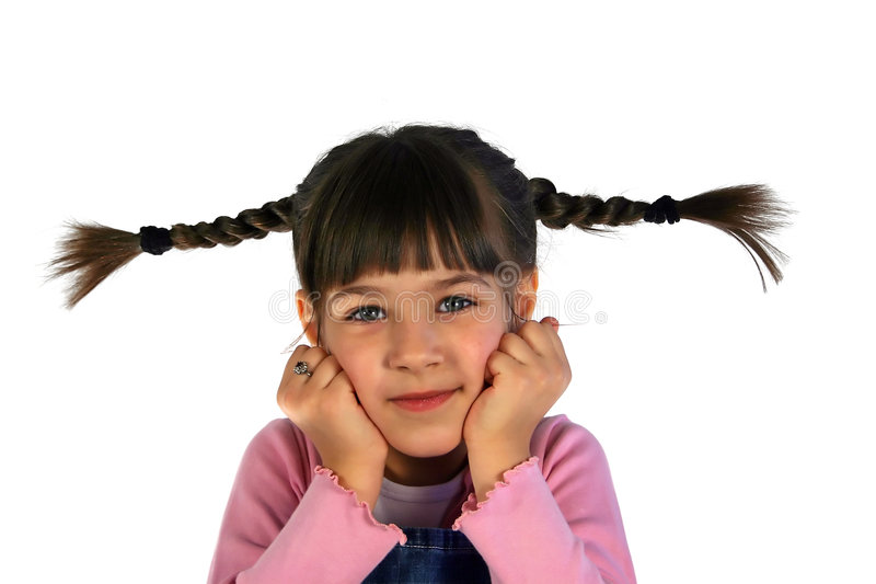 Girl with the braid royalty free stock images