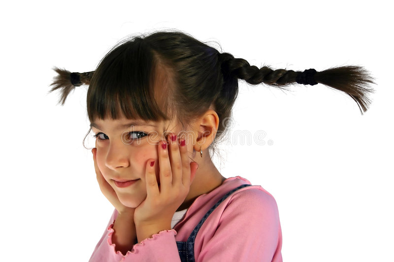 Girl with the braid royalty free stock photo