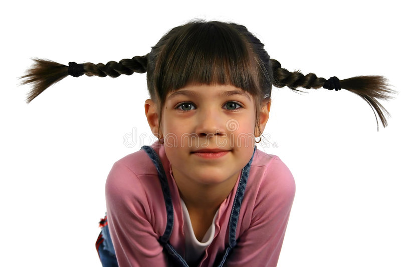 Girl with the braid royalty free stock photography