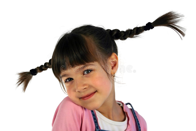 Girl with the braid stock photos