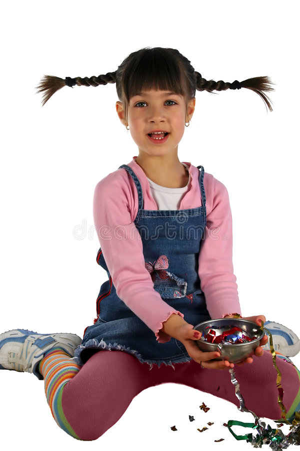 Girl with the braid stock photo