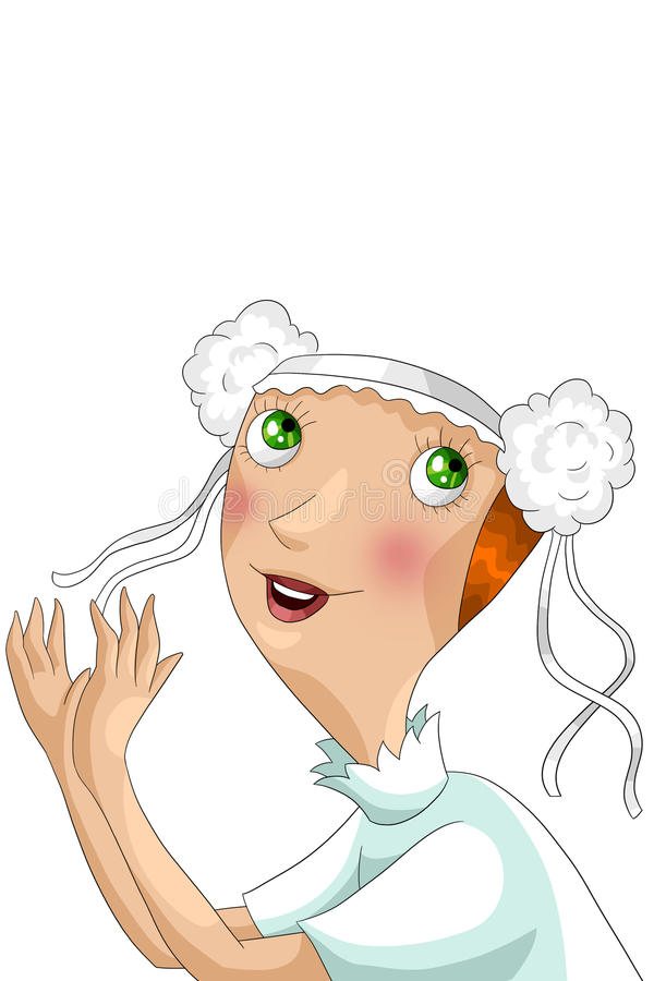 Download Girl Bride Character Cartoon Style  Illustration White Stock Illustration - Image: 31520473