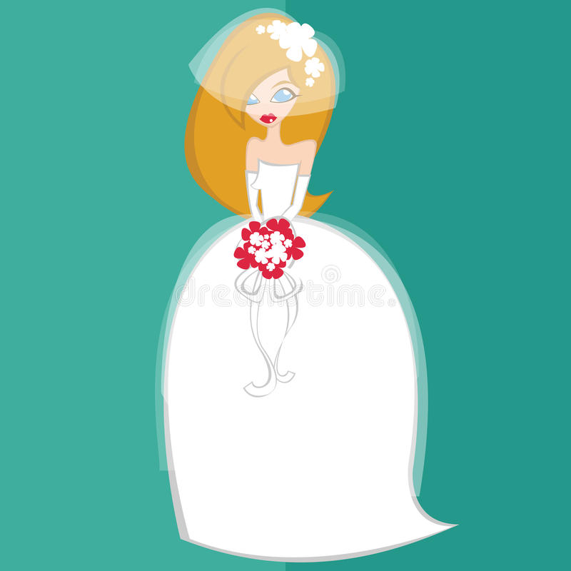 Girl in bride costume no.1 stock images