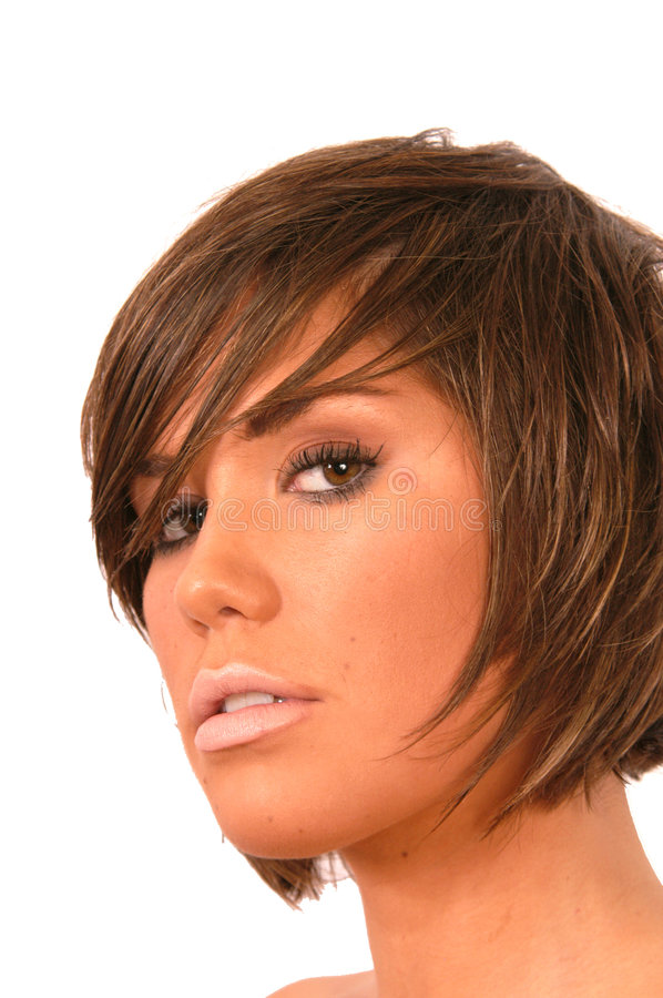 Download Girl with Brown hair stock image. Image of lips, hands - 4738329