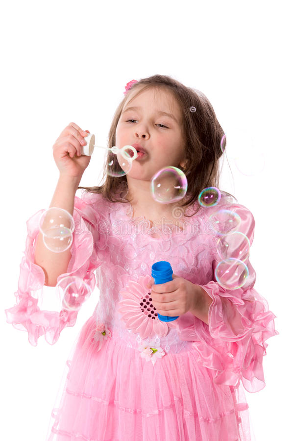 Download Girl and bubbles stock photo. Image of curiosity, freedom - 13376832