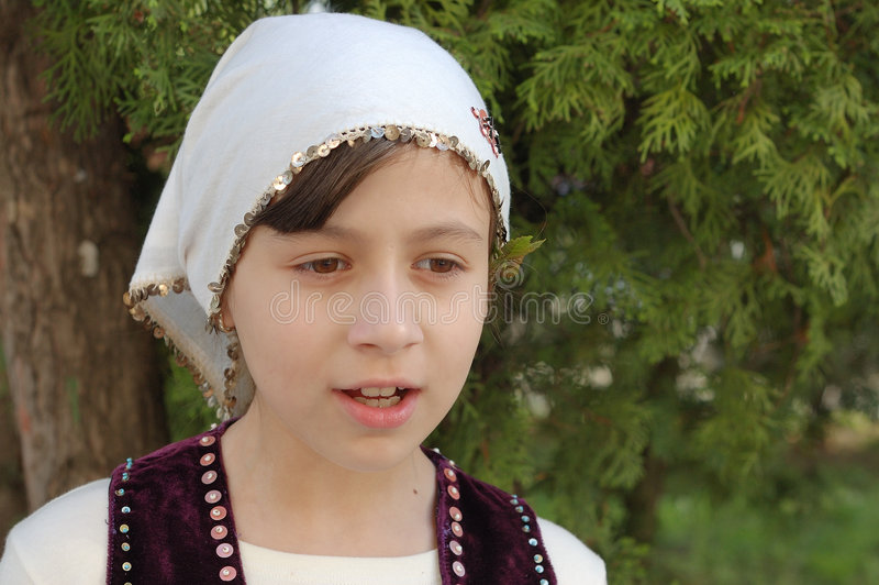 Download Girl In Bulgarian Clothes Royalty Free Stock Photo - Image: 5105135