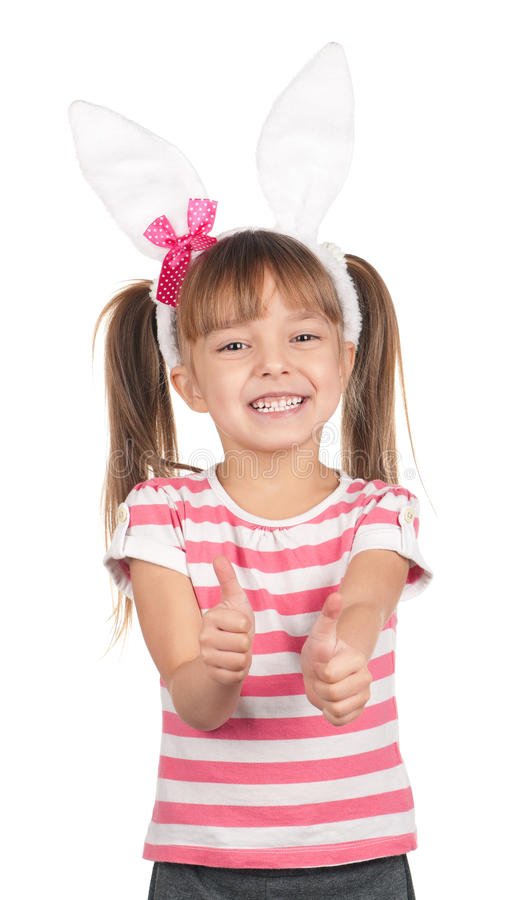 Download Girl with bunny ears stock image. Image of celebration - 22743765