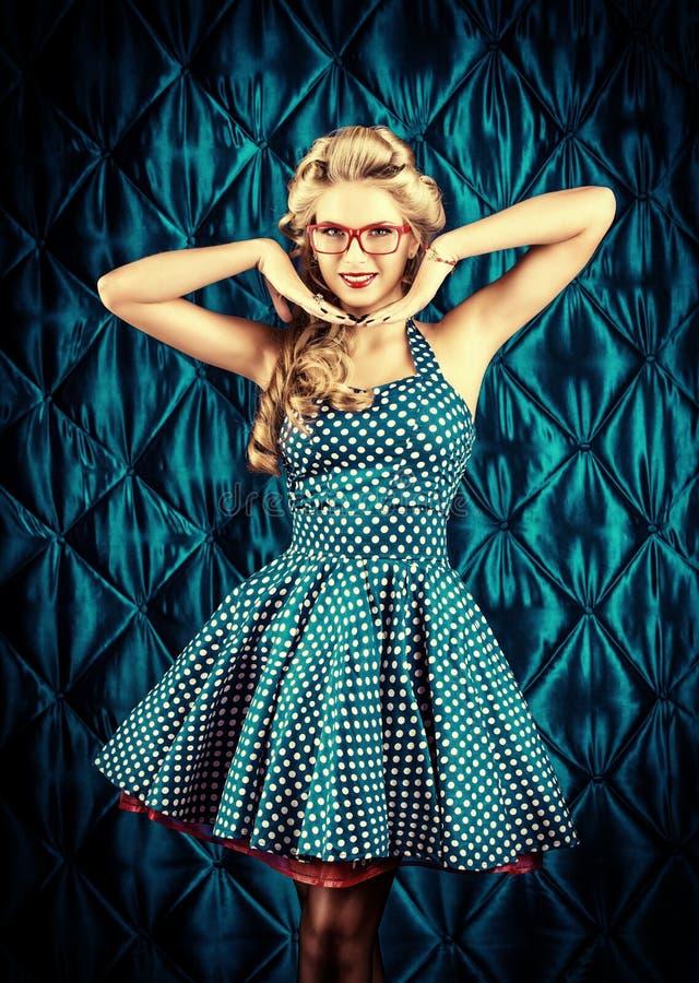 Girl burlesque stock photo