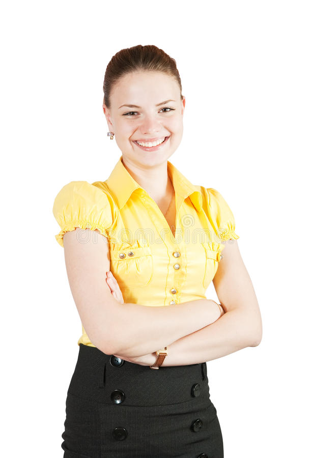 Girl in business outfit royalty free stock photos