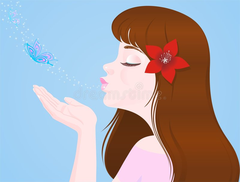 Download Girl And Butterflies Royalty Free Stock Photography - Image: 8078737