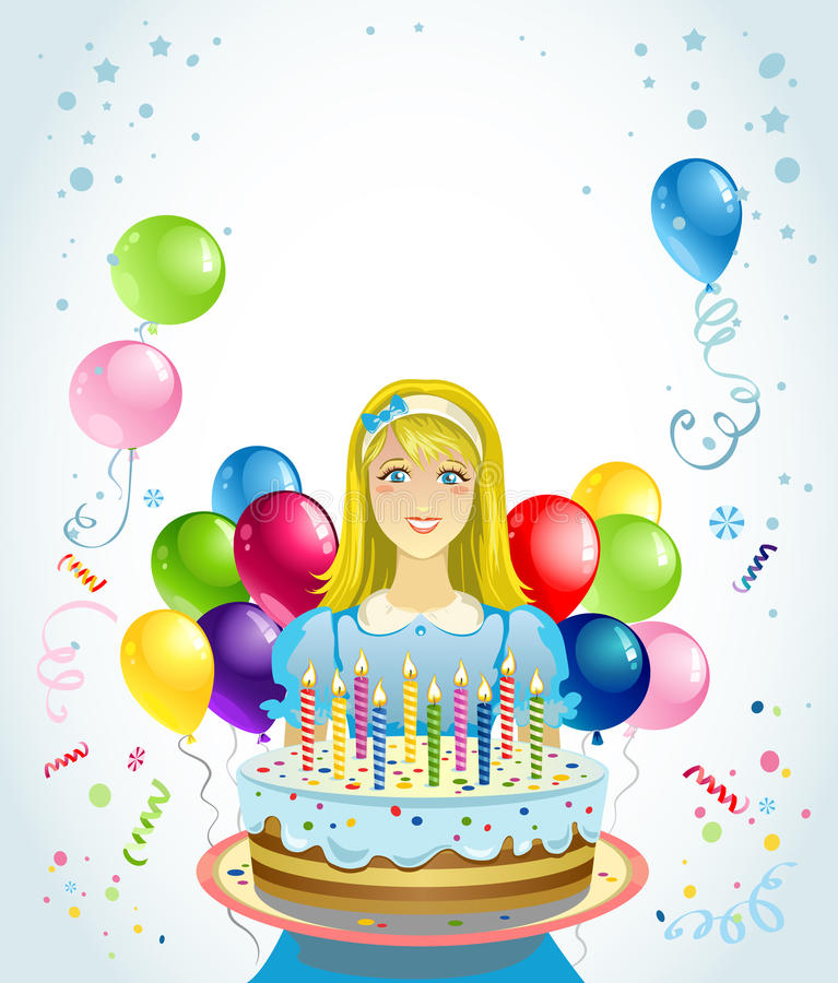 Download Girl With Cake Royalty Free Stock Image - Image: 21490126