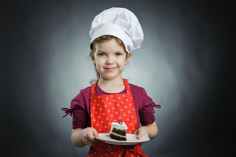Download Girl With A Cake Stock Image - Image: 23262901
