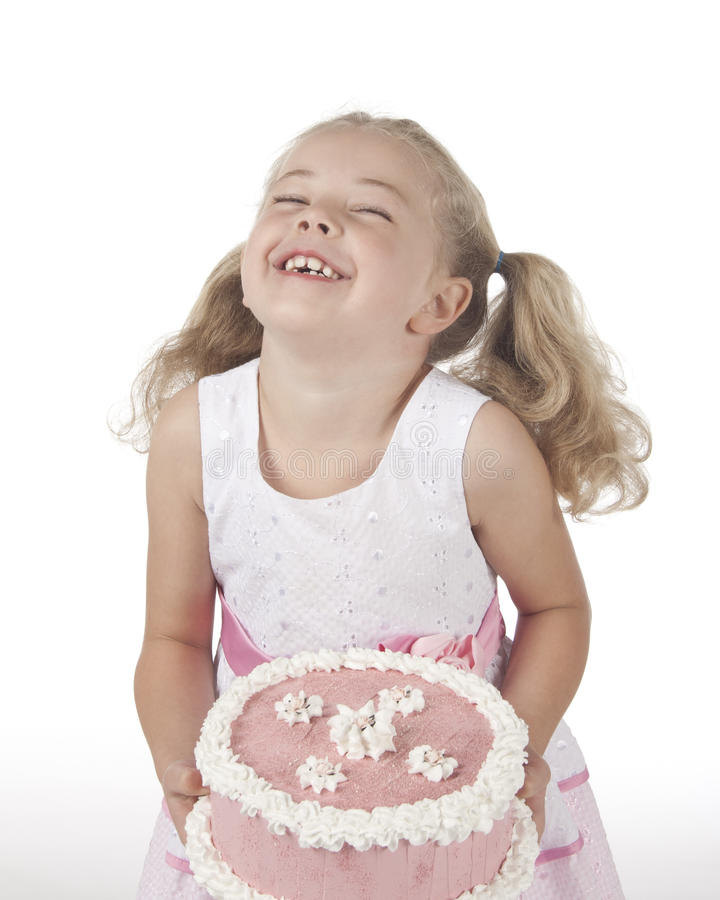 Girl with Cake royalty free stock photography