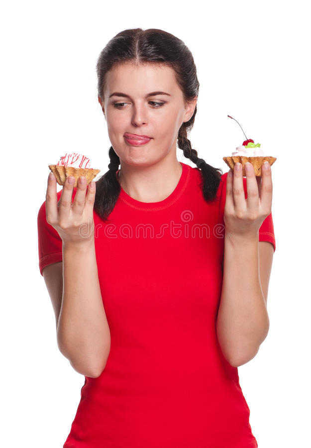 Download Girl With Cakes Stock Image - Image: 26841491
