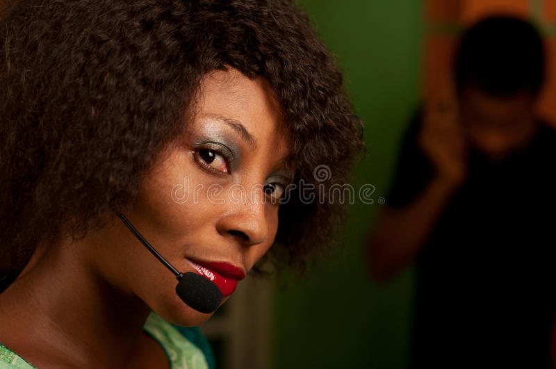 Download Girl in call center stock image. Image of helpline, female - 34106951