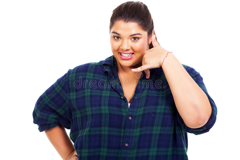 Download Girl call me stock photo. Image of model, isolated, large - 30330810