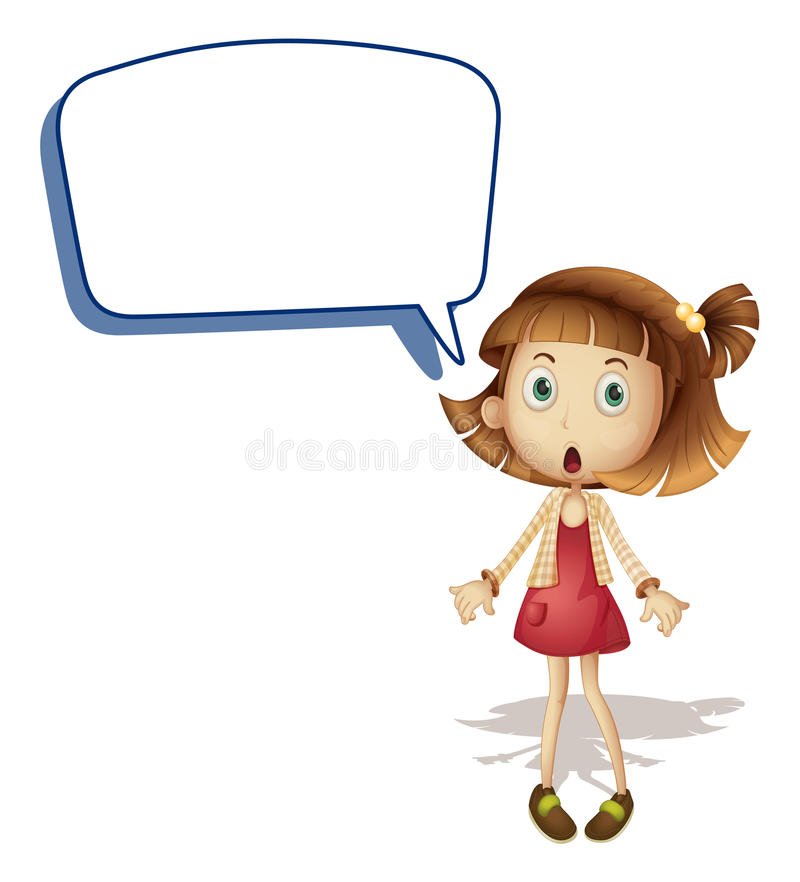 Download Girl and call out stock vector. Illustration of communicate - 26352185