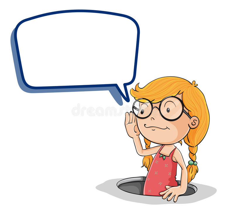 Download Girl with callout stock vector. Image of communication - 26112442