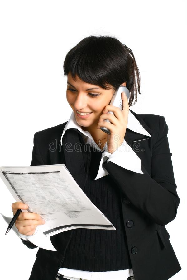Download Girl calls stock photo. Image of person, computer, dial - 3461508