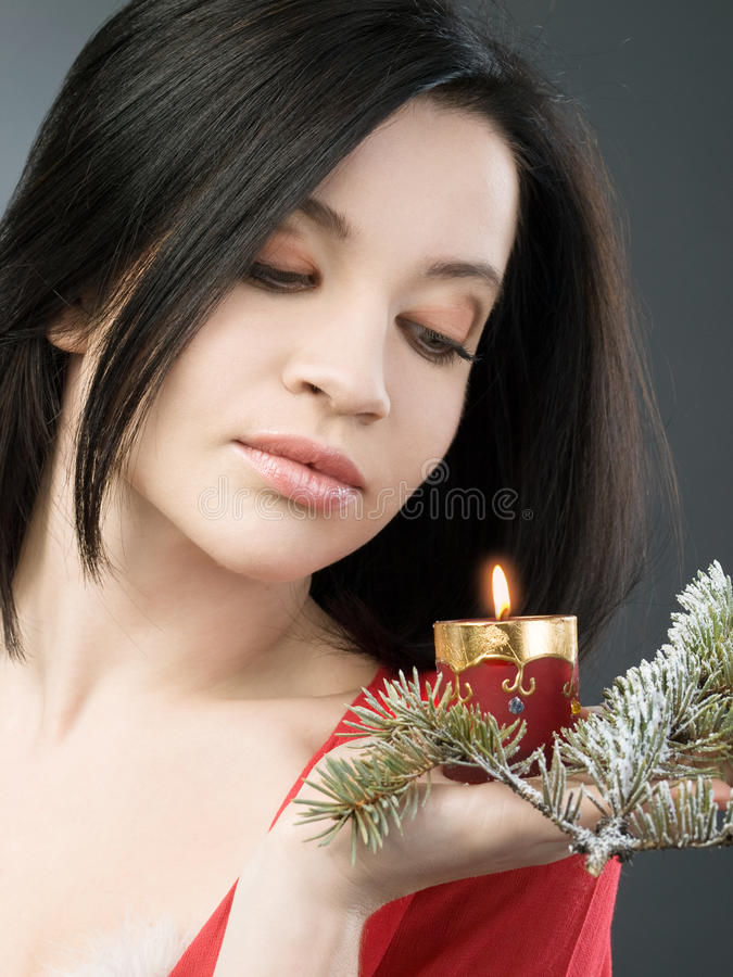 Download Girl With Candle Royalty Free Stock Photos - Image: 12112378