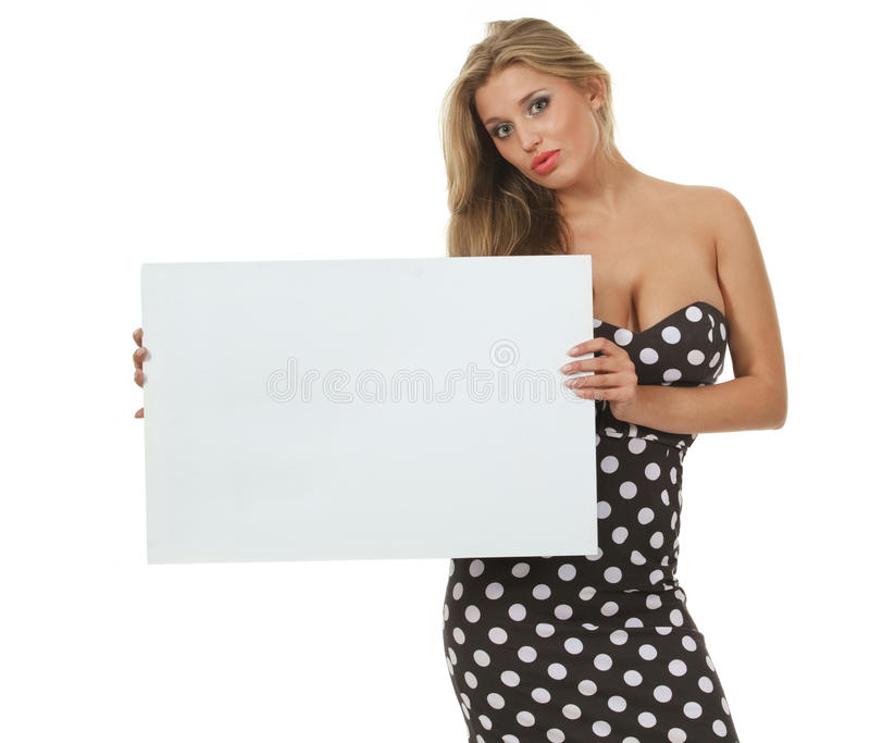 Girl with card stock photo