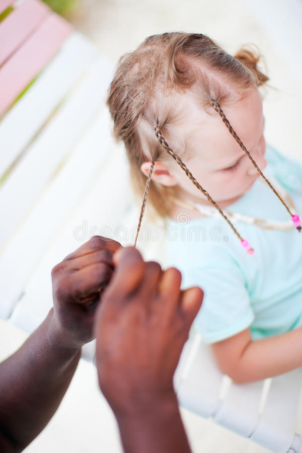 Download Girl with Caribbean braids stock image. Image of human - 25109619