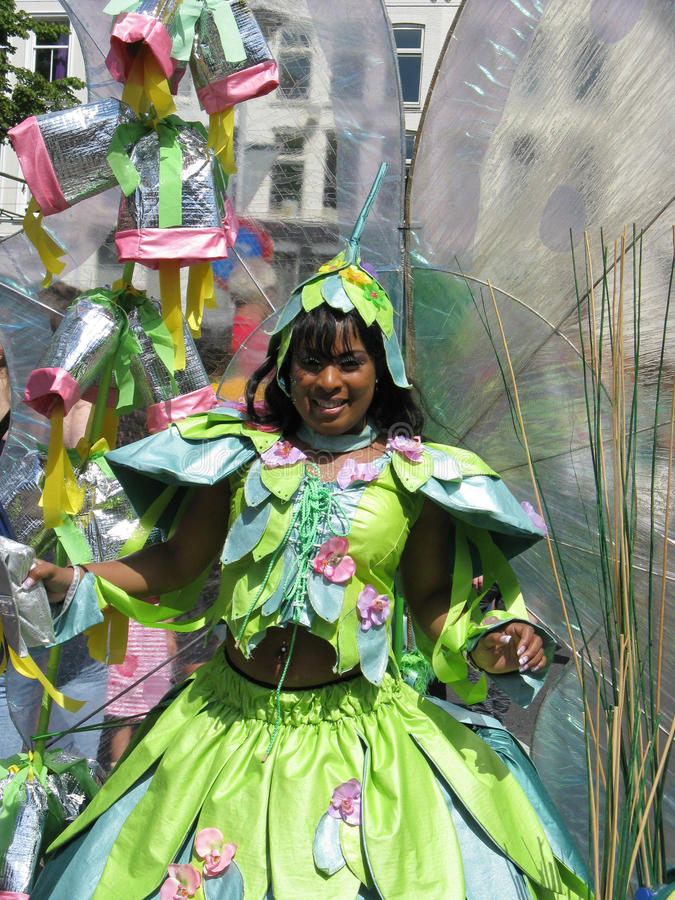 Girl on carnaval parade royalty free stock photo
