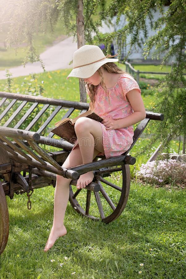 Girl On Cart Free Public Domain Cc0 Image