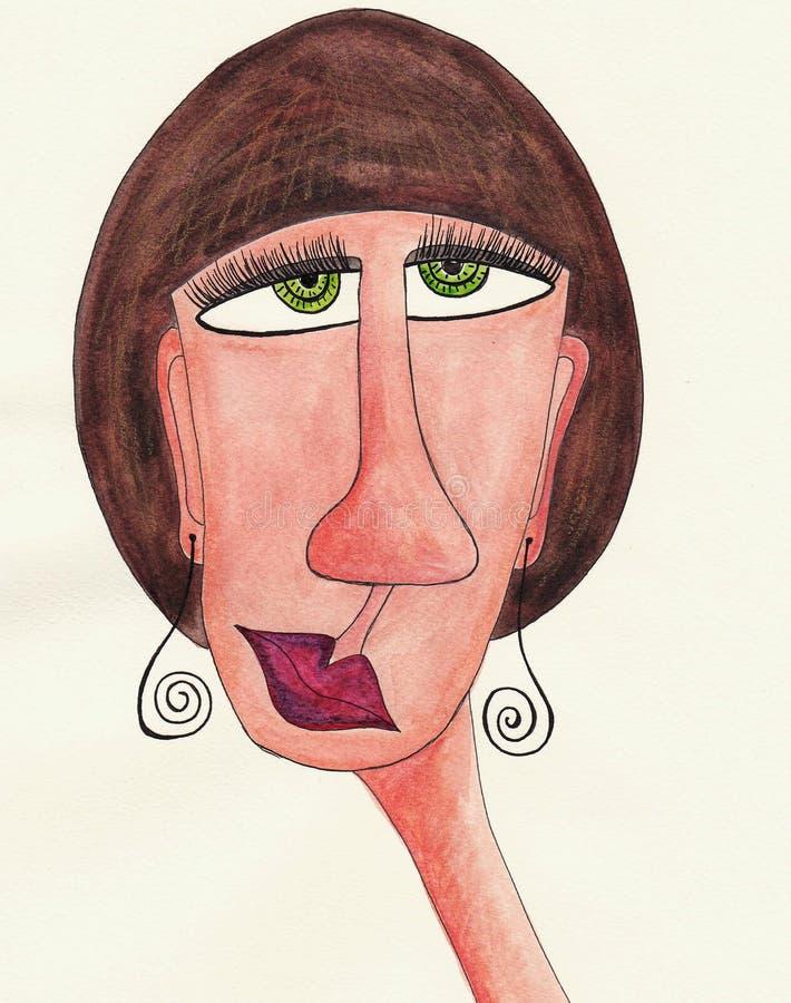 Girl Cartoon Character Avatar Stock Illustration Illustration