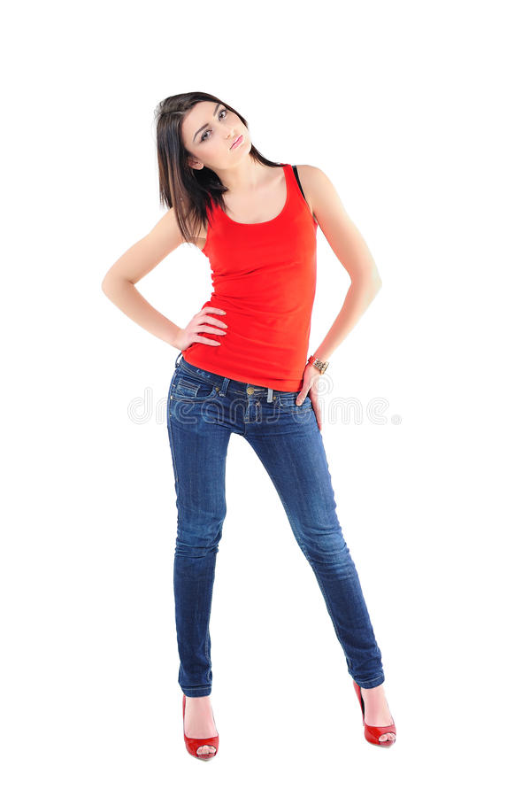 Girl In Casual Stock Images