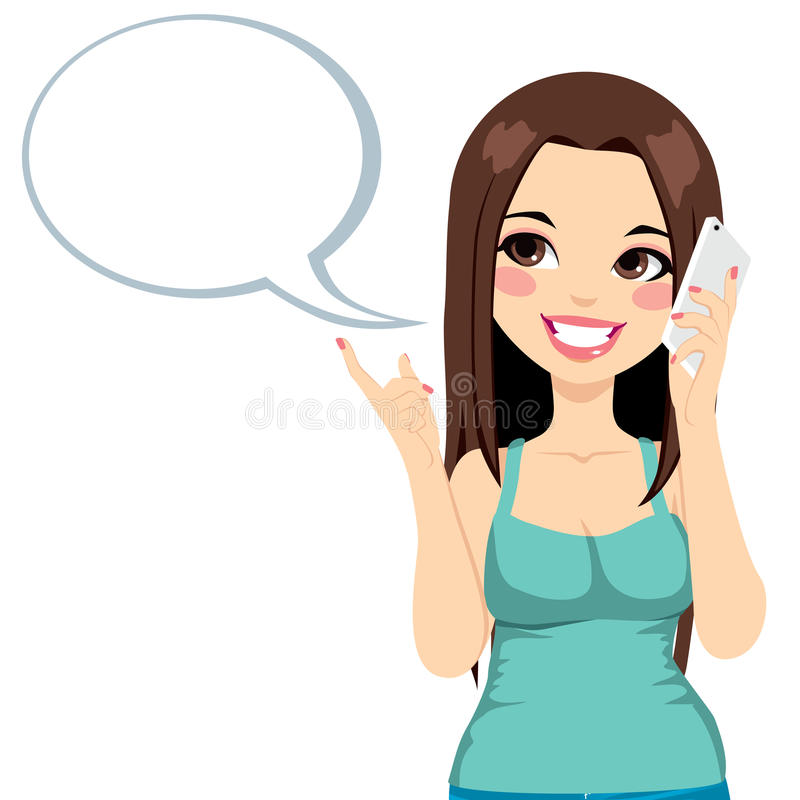 Free Girl Cellphone Conversation Royalty Free Stock Photos - 34746728