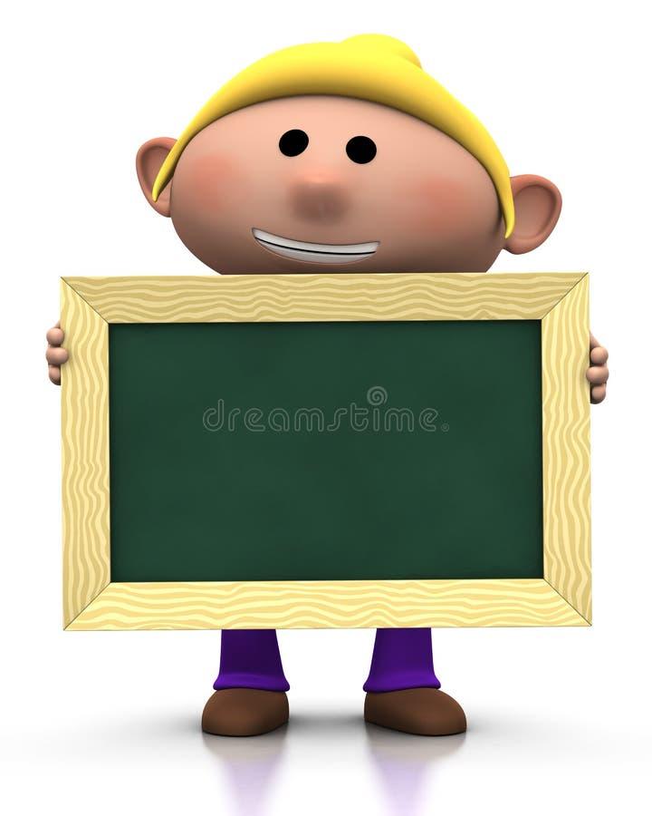 Girl with chalkboard